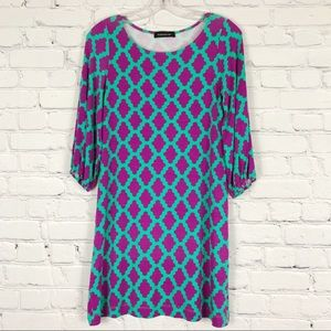 HourGlass Lilly Purple and Blue Tunic